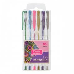 Ручки гелевые YES Metallic 6 цв./PVC 411704