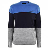 Джемпер Pierre Cardin Colour Block Knit Blue/Navy/GreyM - Оригінал