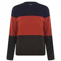Джемпер Pierre Cardin Colour Block Knit Navy/Orge/Khaki - Оригінал