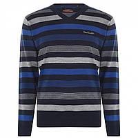 Джемпер Pierre Cardin Mix Stripe Knit Navy/Cobalt - Оригінал