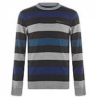 Джемпер Pierre Cardin Stripe Knit Black/Blue - Оригінал