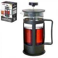 Заварник - пресс Stenson MS-1756 черный, 600мл, Стеклянные заварники, Посуда для чая и кофе, Чайник, Чайник заварник, заварник для чая