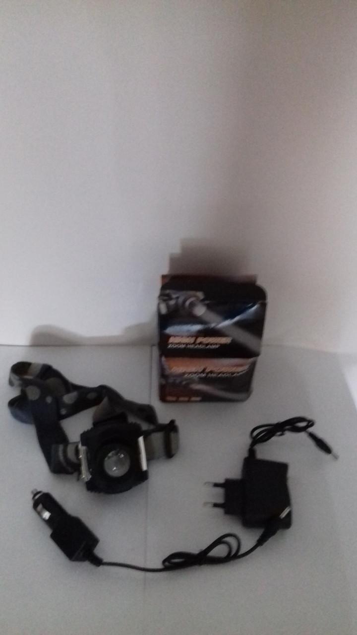 Налобный светодиодный фонарь Police 12V 6631-XPE zoom