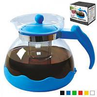 """Заварник стеклянный """"Бриз"""" Stenson MS-0171 разные цвета, 1500 мл, Стеклянные заварники, Посуда для чая и кофе, Чайник, Чайник заварник, заварник для"""