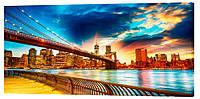 Картина на холсте Декор Карпаты Города 50х100 см (g166)