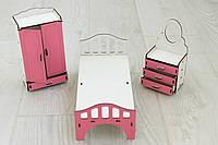 Мебель для кукольного домика Барби NestWood Розовая (kmb005)