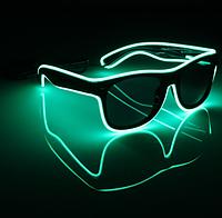 Очки светодиодные неоновые солнцезащитные El Neon fluorescent green (901638381)