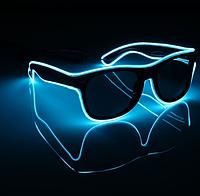 Очки светодиодные солнцезащитные El Neon неоновые ice Blue (901833382)
