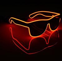 Очки светодиодные солнцезащитные El Neon неоновые ray Red (901861532)