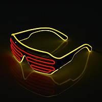 Очки светодиодные El Neon неоновые spiral red Yellow (902884481)