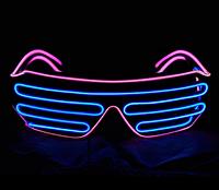 Очки светодиодные El Neon неоновые spiral blue pink (902908775)