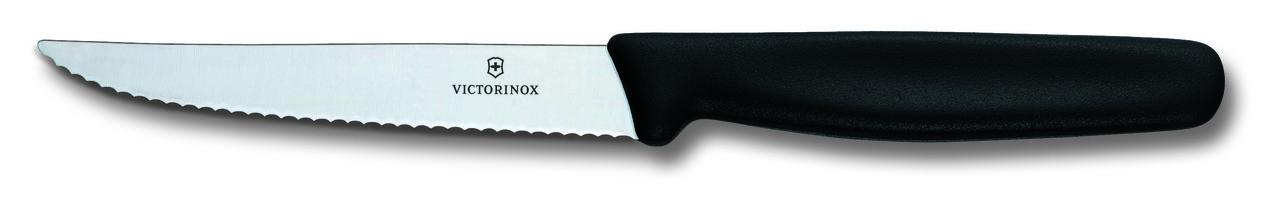 Нож столовый Victorinox Standart 11 см, серрейтор, чёрный нейлон