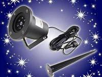 Лазерный проектор Star Shover СНЕГ Snowflake №608 ZP3 проецирование до 15м, IP65, Уличный проектор, Проектор