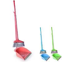 Метла и совок для уборки дома Stenson пластик, разные цвета, размер 75х25см, метлы, щетки, совок, веник, швабра, хозтовары, сад и огород