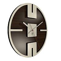 Настенные часы Декор Карпаты UGT002-А Темно-коричневый (OZyN91714)