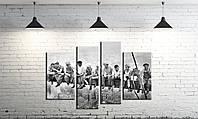 Модульная картина на холсте ProfART SM4-obed 120 х 80 см Обед на Манхэттене (hub_QHPS63884)