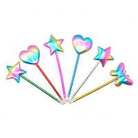 """Ручка шариковая для письма """"Микс"""" (сердце, звезда, бабочка), пластик, ручки, ручки шариковые, ручка шариковая синяя, наборы ручек, ручки для письма"""