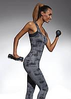 Спортивный женский топ BasBlack Intense-top 70 (original) удлиненный, майка для бега, фитнеса, спорт Bas Bleu  Серый