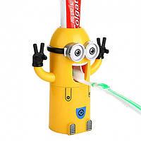 Держатель зубных щеток с дозатором зубной пасты детский Миньон (hub_sMHR70522)