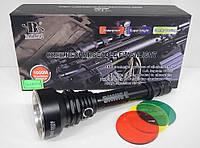 Подствольный фонарик Bailong Police BL Q2805-T6 один режим, ударостойкость, 1000лм, 800м, от аккумулятора, ручной фонарь