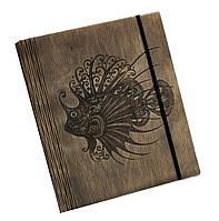 Блокнот Ben Wooden из дерева ручной работы А6 90 листов Рыба (BW01212)