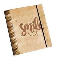 Блокнот Ben Wooden из дерева ручной работы А5 70 листов Улыбка (BW01227)