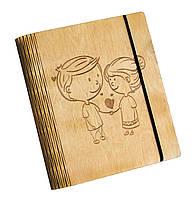 Блокнот Ben Wooden из дерева ручной работы А5 70 листов Любовь (BW01229)