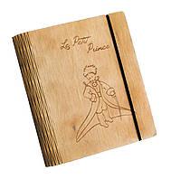 Блокнот Ben Wooden из дерева ручной работы А6 90 листов Маленький Принц (BW01240)