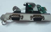 Контроллер PCIE - RS232 (2 port COM) PCI-E x1 MCS9901CV-CC FG-EMT03A-1