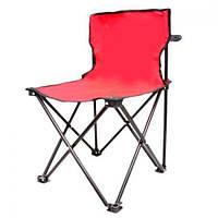 """Стул раскладной туристический со спинкой Stenson """"Паук"""" красный, полиэстер/металлический каркас, стул, складная мебель, стул складной, кресло"""