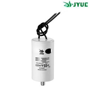 CBB60L 100 mkf  450 VAC (±5%) конденсатор для пуску і роботи. Кріплення болт + дроти (60*120 mm)