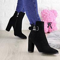Женские ботинки на каблуке Marty черные 1448