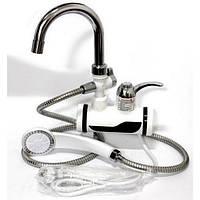 Проточный кран водонагреватель Delimano с душем (Боковое подключение)