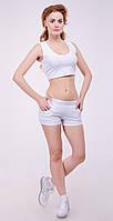 Женский спортивный топ из плотного трикотажа двунитка , фото 1