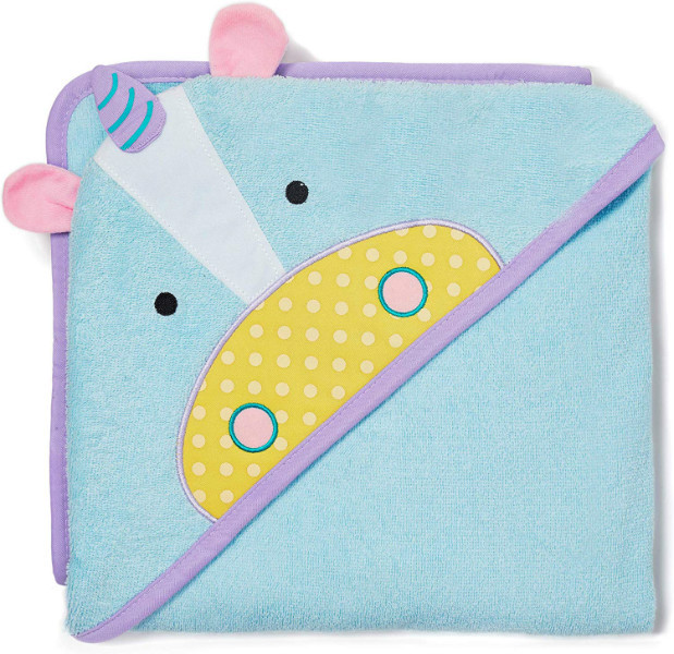 Skip Hop Zoo Махровое полотенце с уголком Единорог Baby Girls' Zoo Hooded Towel Unicorn