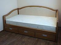 """Кровать Украины деревянная диван-кровать полуторная с ящиками """"Лорд"""" dn-kr5.3"""