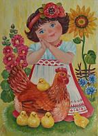 Картина маслом украиночка Ясочка