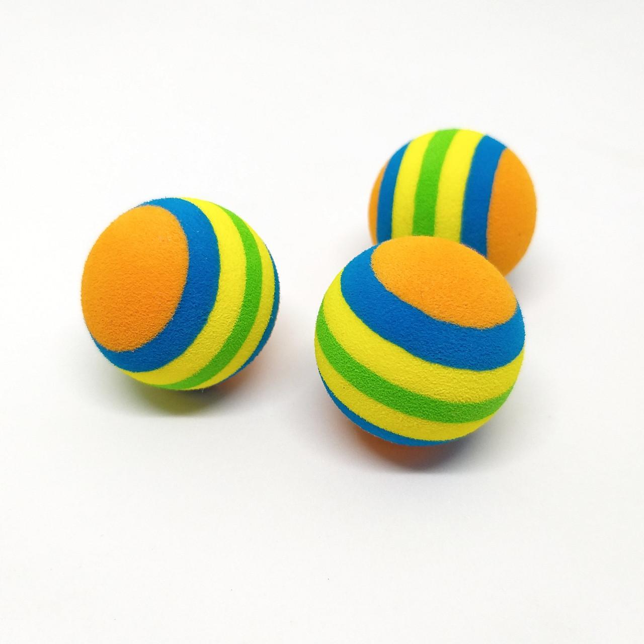 Набір іграшок для кішок і собак М'ячики Zizi 3,5 см 3 шт.