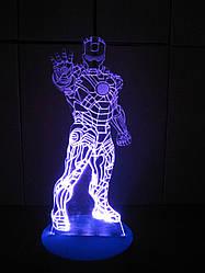 Съемная пластина с рисунком к ночнику, Железный человек в рост, Iron man