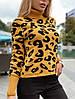 """Вязанный гольфик с имитацией пятен леопарда,ткань: шерсть с акрилом Размер:42-46. Разные цвета (1734 """"дольче""""), фото 6"""