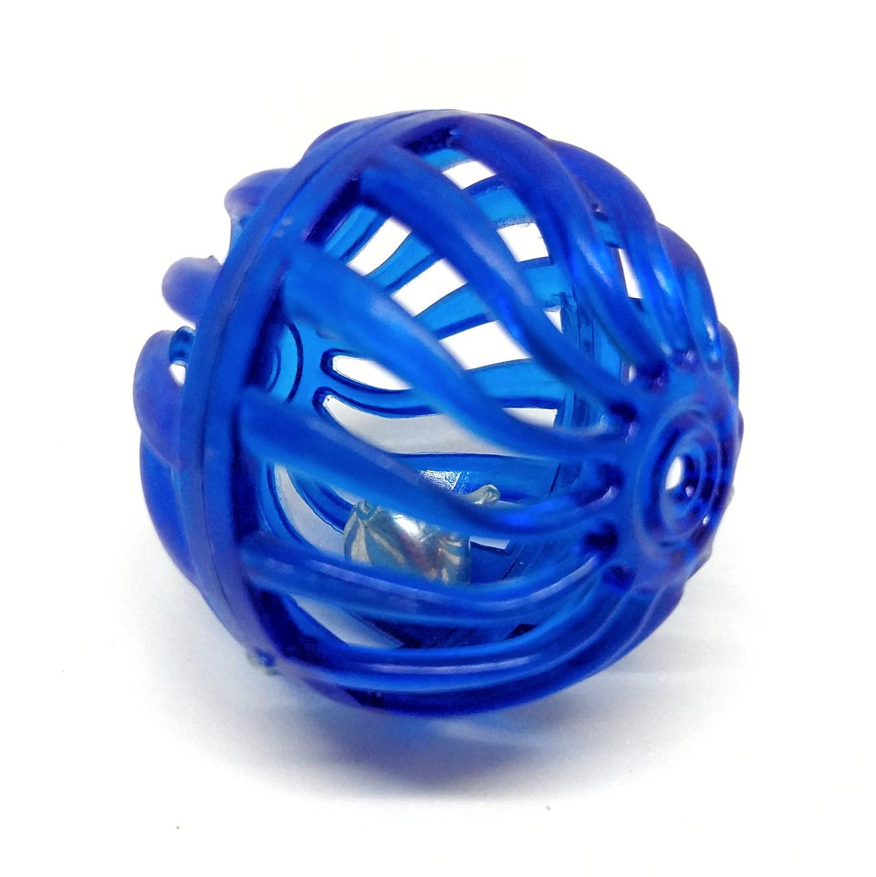 Игрушка для кошек Мячик-погремушка Zizi синий 4 см