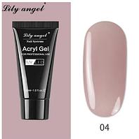 Полигель для наращивания ногтей, камуфляж, Lily angel, 30 мл