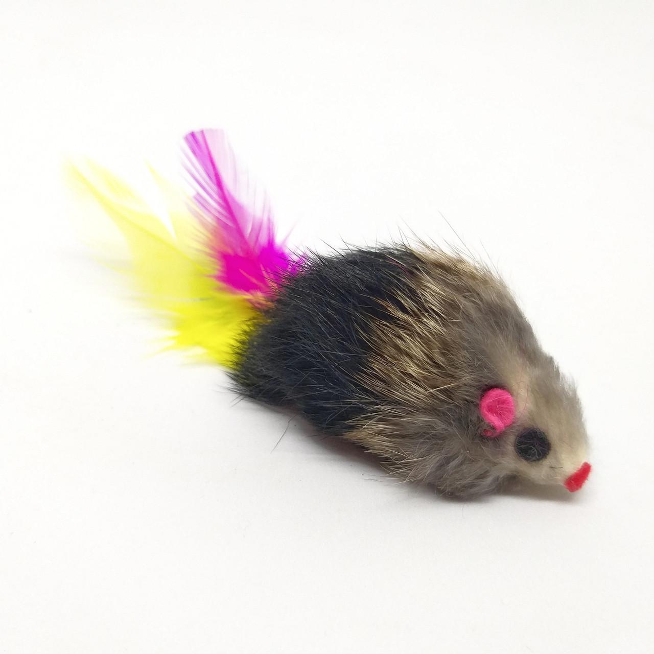 Іграшка для котів Мишка довгошерста Zizi Pl-149 6 см
