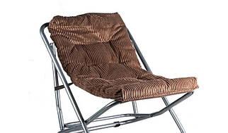 Кресло складное велюровое 90х65х65