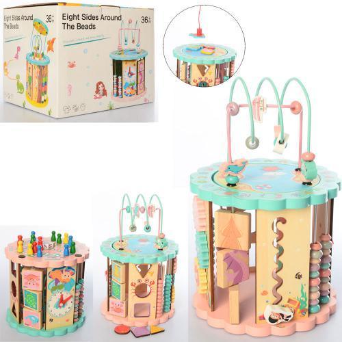 Развивающая деревянная игрушка (бизиборд, пальчиковый лабиринт, рыбалка) арт. 2332