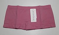 Трусики женские шорты бесшовные темно-розовый