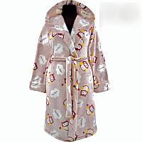 Подростковый махровый халат  для девочки с 36 по 46 размер