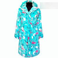 Яркий  махровый халат  для девочки с 36 по 46 размер