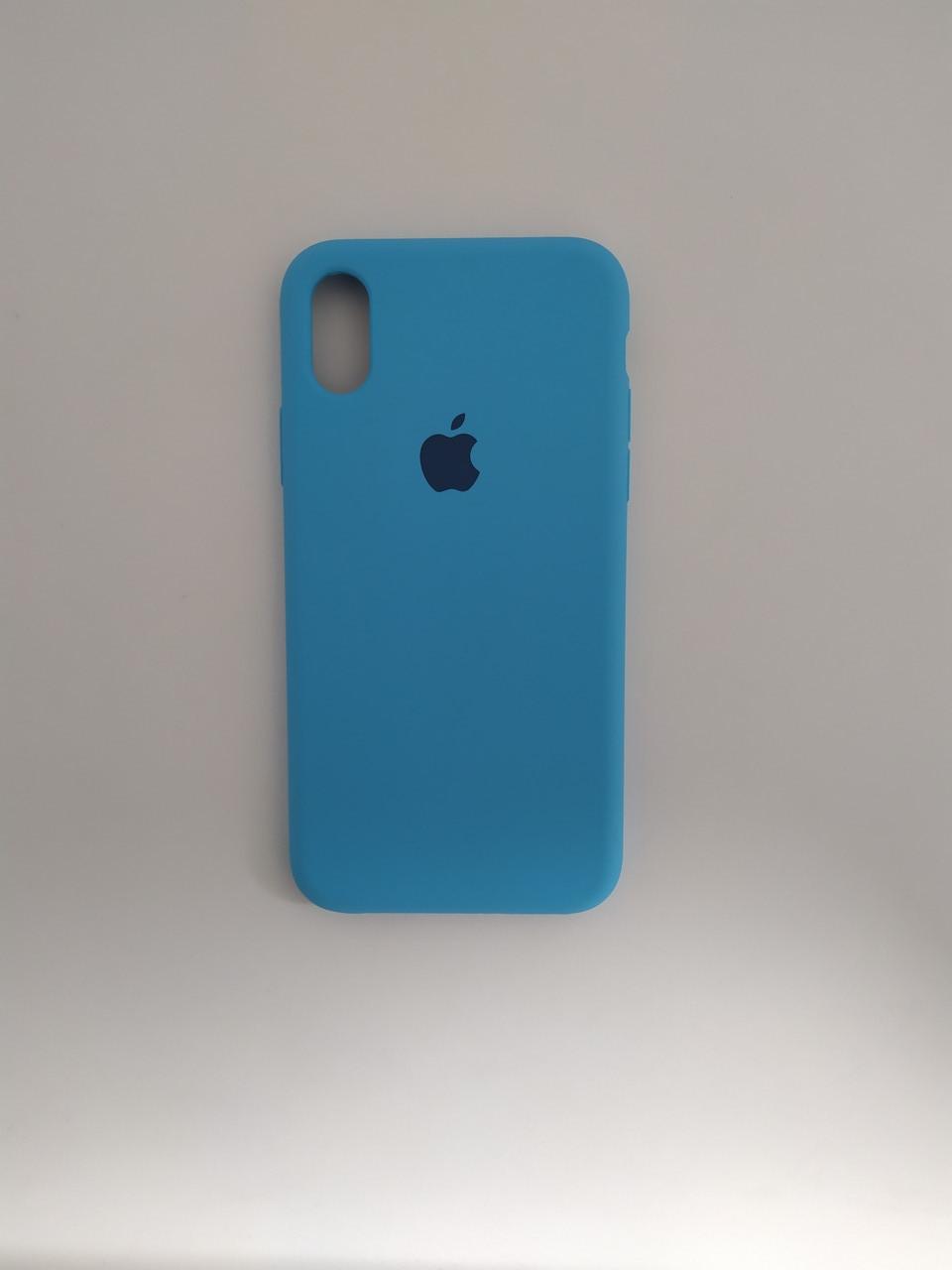 """Чехол Silicon iPhone Xs Max - """"Голубой №16"""""""