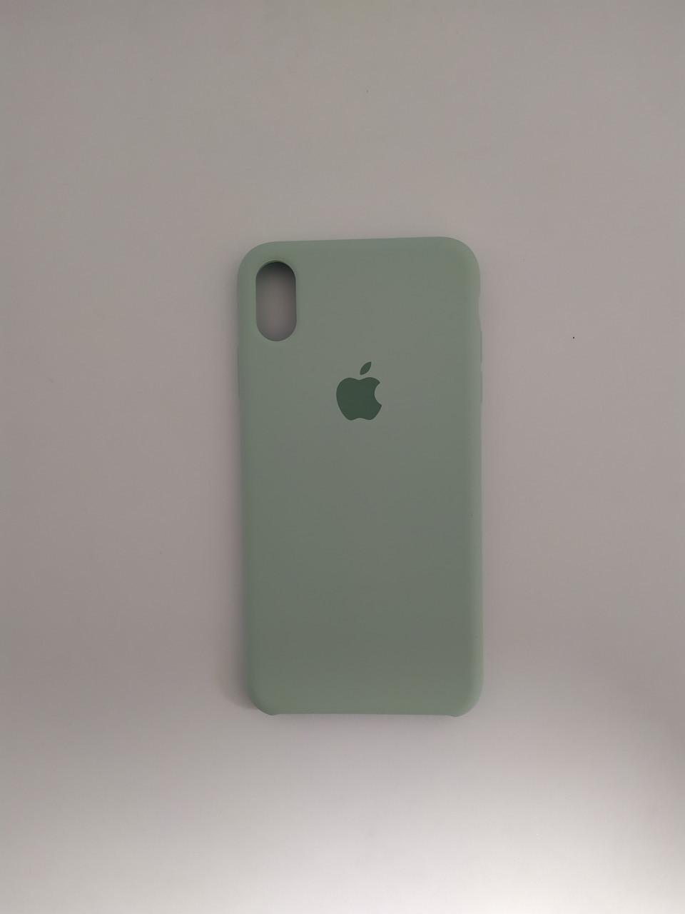 "Чехол Silicon iPhone Xs Max - ""Бирюзовый №17"""